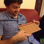 Nácvik tkania zápastkov na kartóne :)