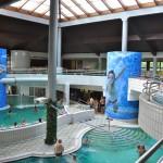 Vnútorná časť aquaparku.